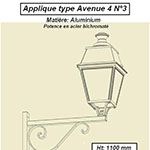 Applique type Avenue 4 n°3