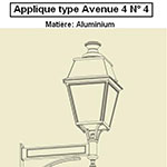 Applique type Avenue 4 n°4