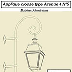 Applique crosse type Avenue 4 n°5