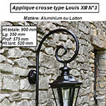 Applique crosse type Louis XIII n°3