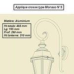 Applique crosse type Monaco n°5