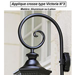 Applique crosse type Victoria n°3